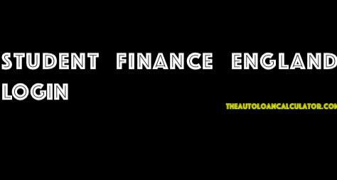 Student Finance England login